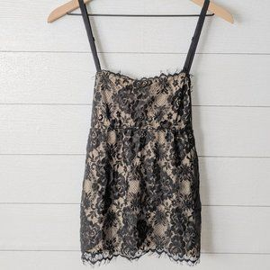 The Limited Black Eyelash Lace Cami Tank Top M